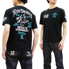 テッドマン Tシャツ TDSS-488 TEDMAN Red Devils エフ商会 メンズ 半袖tee ブラック 新品