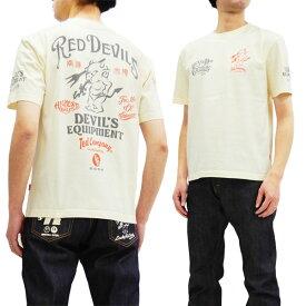 テッドマン Tシャツ TDSS-488 TEDMAN Red Devils エフ商会 メンズ 半袖tee オフ白 新品