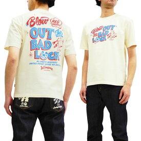 テッドマン Tシャツ TDSS-489 TEDMAN Blow Out Bad Luck エフ商会 メンズ 半袖tee オフ白 新品