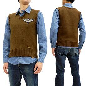 トイズマッコイ TMK1801 ミリタリーニットベスト TOYS McCOY RED CROSS WING & STAR メンズ Vest オリーブ 新品