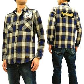 トイズマッコイ TMS1806 コットンチェックシャツ ロードランナー TOYS McCOY メンズ 長袖シャツ 新品
