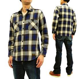 トイズマッコイ TMS1810 コットンチェックシャツ マックヒルオーバーオール TOYS McCOY メンズ 長袖シャツ 新品