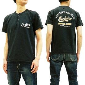 フェローズ ヘンリーネック Tシャツ 19S-PHNT-P1 Pherrow's Pherrows メンズ 半袖tee S.ブラック 新品