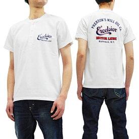 フェローズ ヘンリーネック Tシャツ 19S-PHNT-P1 Pherrow's Pherrows メンズ 半袖tee ホワイト 新品