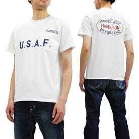 フェローズ ポケット Tシャツ 19S-PPT2 Pherrow's Pherrows メンズ ミリタリー 半袖tee ホワイト 新品