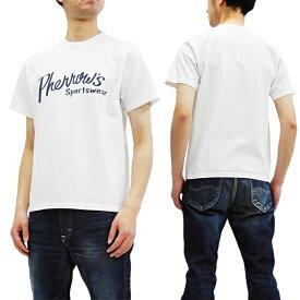 フェローズ Tシャツ PT1 Pherrow's Pherrows 定番ロゴ メンズ 半袖tee 19S-PT1 ホワイト 新品