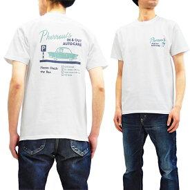 フェローズ Tシャツ 19S-PT12 Pherrow's Pherrows メンズ アメカジ 半袖tee ホワイト 新品