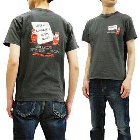 フェローズ Tシャツ 19S-PT6 Pherrow's Pherrows ワークウェアCO. メンズ 半袖tee チャコール 新品