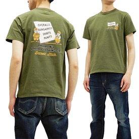 フェローズ Tシャツ 19S-PT6 Pherrow's Pherrows ワークウェアCO. メンズ 半袖tee グリーン 新品
