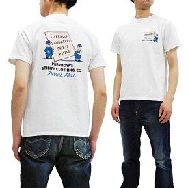 フェローズ Tシャツ 19S-PT6 Pherrow's Pherrows ワークウェアCO. メンズ 半袖tee ホワイト 新品