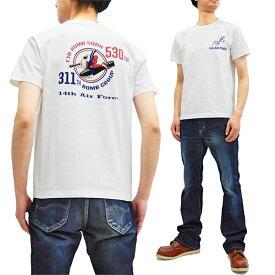 バズリクソンズ Tシャツ BR78166 Buzz Rickson ミリタリー メンズ スラブ 半袖tee ホワイト 新品