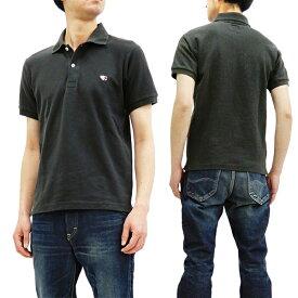 フェローズ ポロシャツ PPS1 Pherrow's Pherrows 定番 鹿の子 メンズ 半袖 POLO Sブラック 新品