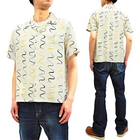 スター・オブ・ハリウッド SH38124 オープンシャツ 東洋エンタープライズ メンズ 半袖シャツ オフホワイト 新品