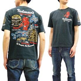 テッドマン Tシャツ TDSS-496 TEDMAN 奈良の大仏 和柄 エフ商会 メンズ 半袖tee ネイビー 新品