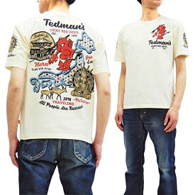 テッドマン Tシャツ TDSS-496 TEDMAN 奈良の大仏 和柄 エフ商会 メンズ 半袖tee オフ白 新品