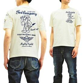 テッドマン 刺繍 Tシャツ TDSS-497 TEDMAN 第8空軍パイロット柄 エフ商会 メンズ 半袖tee オフ白 新品