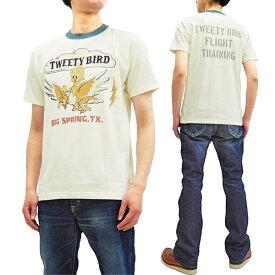 トイズマッコイ Tシャツ TMC1909 トゥイーティ Tweety TOYS McCOY メンズ 半袖Tee オフ白 新品