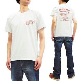 フェローズ ヘンリーネック Tシャツ 19S-PHNT-P3 Pherrow's Pherrows メンズ 半袖tee ホワイト 新品
