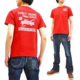 フェローズ ポケット Tシャツ 19S-PPT4 Pherrow's Pherrows メンズ アメカジ 半袖tee 朱色 新品