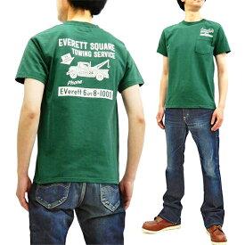 フェローズ ポケット Tシャツ 19S-PPT4 Pherrow's Pherrows メンズ アメカジ 半袖tee グリーン 新品