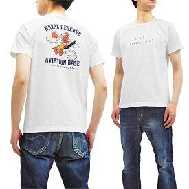 バズリクソンズ Tシャツ BR78165 Buzz Rickson 東洋 メンズ US Naval ミリタリー スラブ 半袖tee ホワイト 新品