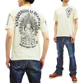 爆烈爛漫娘 Tシャツ RMT-296 仏像 不空羂索観音 エフ商会 メンズ 和柄 半袖tee オフ白 新品