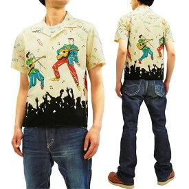 スター・オブ・ハリウッド SH38116 オープンシャツ エルヴィス・プレスリー メンズ 半袖シャツ オフ 新品