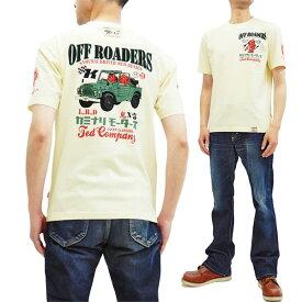 テッドマン カミナリ Tシャツ TDKMT-15 エフ商会 雷 x TEDMAN コラボ メンズ 半袖tee オフ白 新品