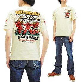 テッドマン Tシャツ TDSS-499 TEDMAN レッドデビルズ ギャラクシー エフ商会 メンズ 半袖tee オフ白 新品