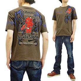 テッドマン Tシャツ TDSS-500 TEDMAN トライバルタトゥー エフ商会 メンズ 半袖tee ブラウン 新品