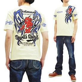 テッドマン Tシャツ TDSS-500 TEDMAN トライバルタトゥー エフ商会 メンズ 半袖tee オフ白 新品