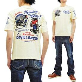 テッドマン Tシャツ TDSS-502 TEDMAN テドン バス釣り柄 エフ商会 メンズ 半袖tee オフ白 新品