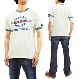 トイズマッコイ Tシャツ TMC1936 TOYS McCOY ロゴ メンズ 半袖Tee #011オフ白 新品