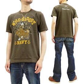 トイズマッコイ Tシャツ TMC1940 海軍 フィリックス・ザ・キャット TOYS McCOY メンズ 半袖Tee Dチャコール 新品