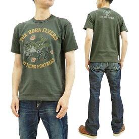 トイズマッコイ Tシャツ TMC1941 B-17 爆撃機 ミリタリーTOYS McCOY メンズ 半袖Tee ブラック 新品