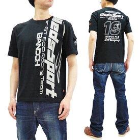 テッドマン Tシャツ WEDSTEE-10 カミナリ WedsSport コラボ エフ商会 メンズ 半袖tee ブラック 新品