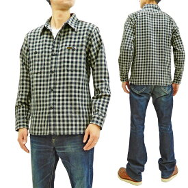 フェローズ 19W-720WS チェック ネルシャツ Pherrow's Pherrows メンズ ワークシャツ 長袖シャツ ネイビーギンガム 新品
