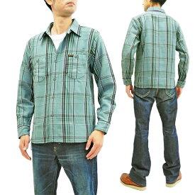 フェローズ 19W-720WS チェック ネルシャツ Pherrow's Pherrows メンズ ワークシャツ 長袖シャツ サックス 新品