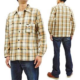 フェローズ 19W-750WS-C チェック ネルシャツ Pherrow's Pherrows メンズ ワークシャツ 長袖シャツ ナチュラル 新品