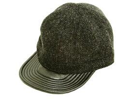 フェローズ ワークキャップ ウール レザー 19W-PWCC1-L Pherrow's Pherrows メンズ 秋冬用 帽子 ブラック 新品