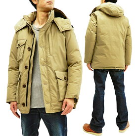 ザンタージャパン ダウンジャケット 6705 ZANTER JAPAN メンズ ダウンパーカー WP-H ベージュ 新品