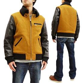 インディアンモーターサイクル ドンキージャケット IM14473 東洋エンタープライズ メンズ レザー袖×ウールメルトンジャケット #156ゴールド 新品