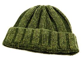 フェローズ PSWC1 リブ編み ニットキャップ シルク/ウール ワッチキャップ メンズ 帽子 19W-PSWC1 グリーン 新品