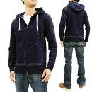 サムライジーンズSIS-102インディゴパーカーメンズ無地ジップアップスウェットパーカー新品SamuraiJeansJpaneseIndigoHoodieMen'sPlainFullZip-UpHoodedSweatshirtSIS-102