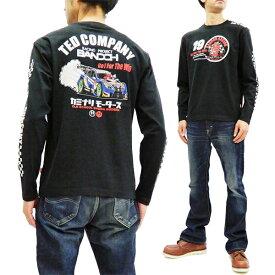 テッドマン カミナリ 長袖Tシャツ TDKMLT-90 TEDMAN 爆走坂東組 エフ商会 メンズ ロンtee ブラック 新品