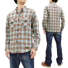 トイズマッコイ TMS1910 チェックシャツ スティーブ・マックイーン TOYS McCOY メンズ 長袖シャツ ブルー 新品