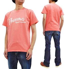 フェローズ Tシャツ PT1 Pherrow's Pherrows 定番ロゴ メンズ 半袖tee 20S-PT1 サーモン 新品