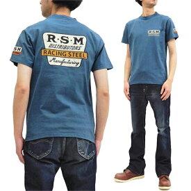 フェローズ Tシャツ 20S-PT3 Pherrow's Pherrows 左袖ワッペン付き メンズ アメカジ 半袖tee ブルーグレー 新品