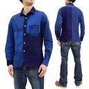 ステュディオ・ダ・ルチザン 長袖シャツ 5638 メンズ クレイジーパターン TUGIHAGIインディゴシャツ 新品