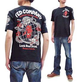 テッドマン Tシャツ TDSS-511 TEDMAN 和柄 龍虎鬼 エフ商会 メンズ 半袖tee ブラック 新品